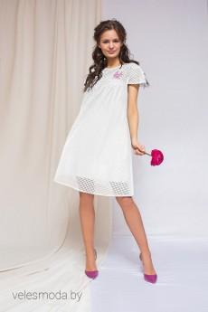 Платье 1775 белый ELLETTO LIFE