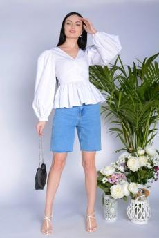 Блузка 5277 белая Elite Moda