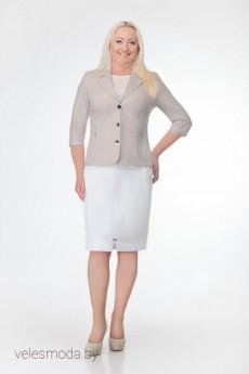 Жакет 1485 бежевый Elite Moda