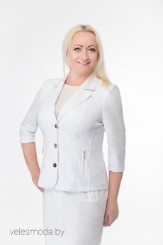 Жакет 2485 белый Elite Moda