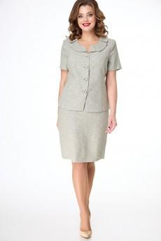 Костюм с юбкой 4052-3153 серый Elite Moda