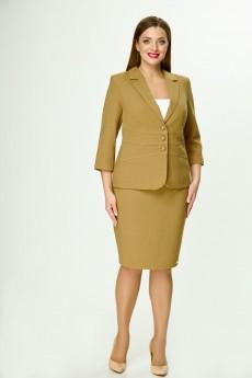 Костюм с юбкой 4266-3394 олива Elite Moda