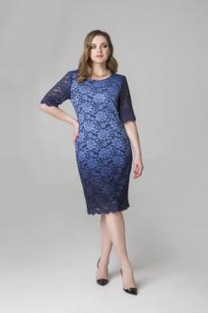 Платье 1809 синий Elletto