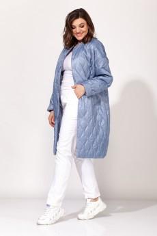 Пальто 3460 синий Elletto