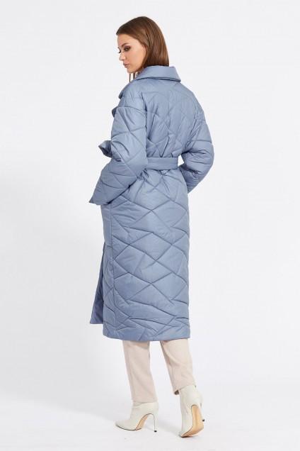 Пальто 2077 серо-голубой EOLA