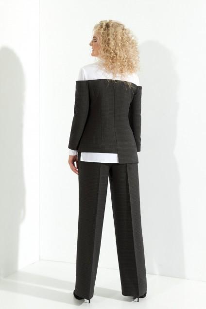 Костюм брючный 365 темно-серый Euro Moda
