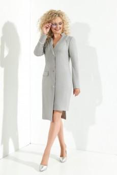 Платье 373 серый + розовый + люрекс Euro Moda
