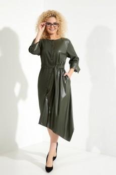 Платье 387 хаки Euro Moda