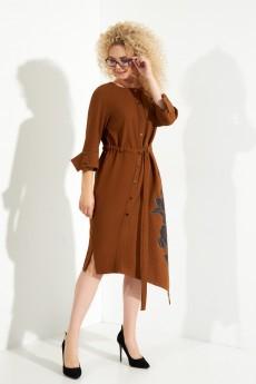 Платье 388 горчица Euro Moda