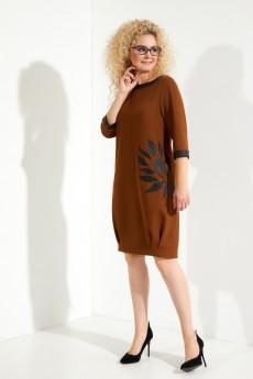 Платье 389 горчица Euro Moda