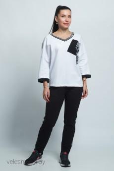 Спортивный костюм 11443 бело-черный FORMAT