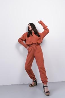 Спортивный костюм 016ФС кирпичный Faldas