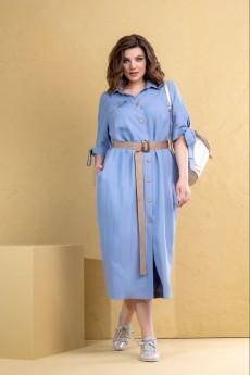 Платье 1098 голубой Deesses