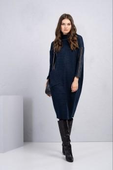 Платье 1107 синий Deesses