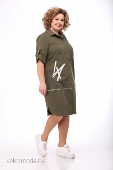 Платье 2041 хаки Felice Woman