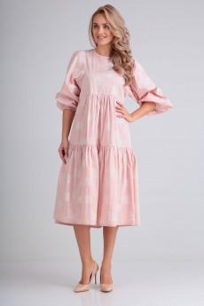 Платье 4067 розовый FloVia