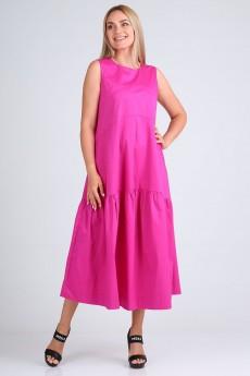 Платье 4084 розово-фиолетовый FloVia
