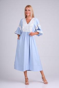 Платье 4095 голубо-белый FloVia