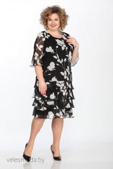 Платье 562 черно-белый GALEREJA