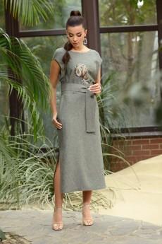 Платье 802 хаки Галеан Стиль
