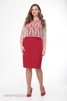 Платье 2378 красный Gold Style