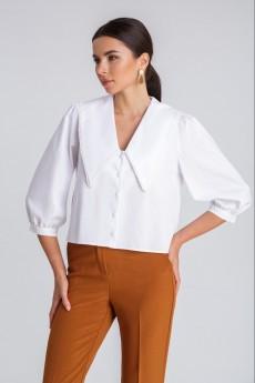 Блузка 408 белый IVARI