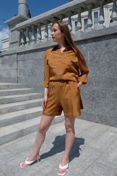 Костюм с  шортами 6012 светло-коричневый Ivera collection