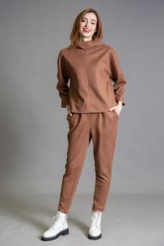 Джемпер 929 коричневый Ivera collection
