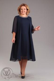 *Платье 743 темно-синий Iva
