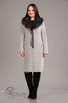 Пальто 850 светло-серый Iva
