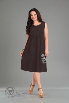 Платье 930 шоколадный Iva