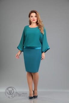 Платье 947 зеленый Iva