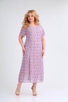 Платье 1688 лиловый Ивелта Плюс