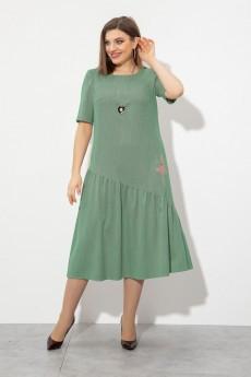 Платье 2105 зеленый JeRusi