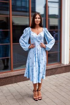 Платье 244-21 голубой KRASA
