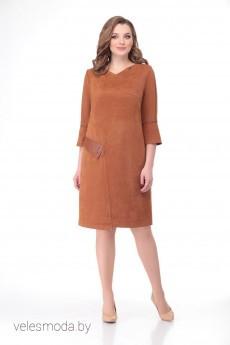 Платье В-104 терракот Карина Делюкс