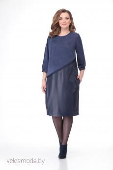 Платье В-132 синий  Карина Делюкс