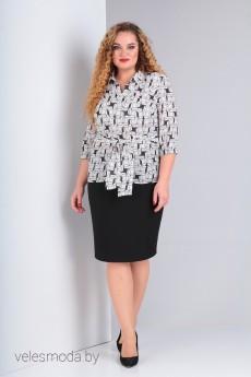 Блузка В-298 черно-белый Карина Делюкс
