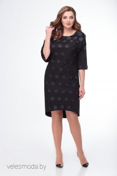 Платье 678 черный Кокетка и К