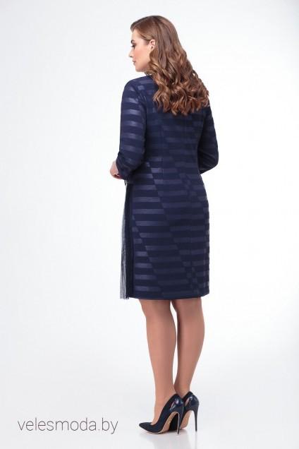 Платье 679 синий Кокетка и К
