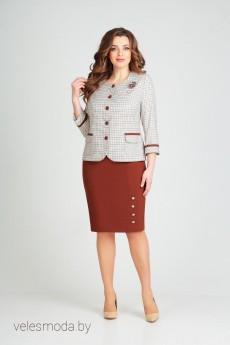 Костюм с юбкой 1754 Ксения стиль