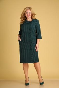 Платье 1908 зеленый Ксения стиль