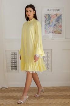 Платье 1346 желтый LADIS LINE