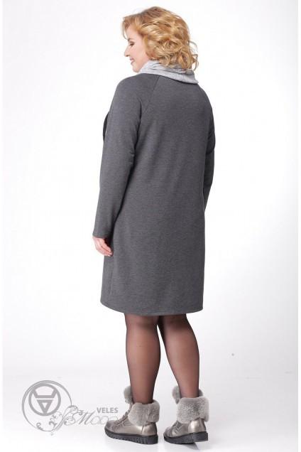 Платье 902 серый LADIS LINE
