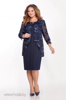 Платье 1333 синий LaKona