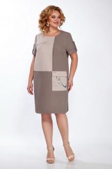 Платье 1381  капучино LaKona