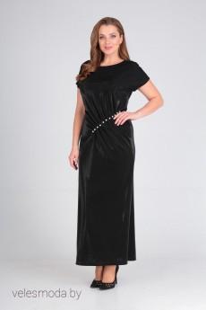 Платье 461 черный Lady Line