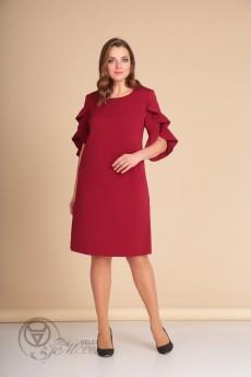 Платье 432 красный Lady Line