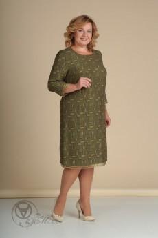 Платье 436 светлая олива Lady Line