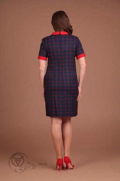Платье 1063 красная клетка Lady Style Classic